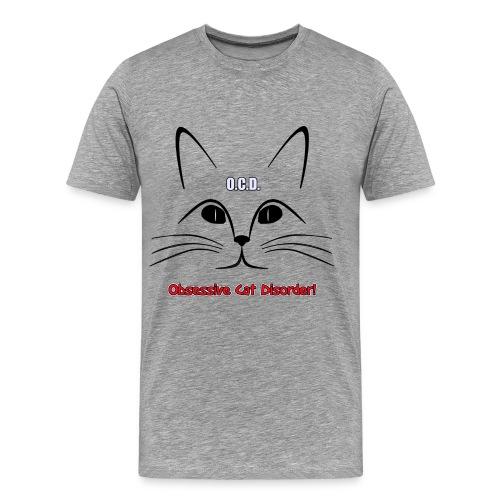 O.C.D. Obsessive Cat Disorder Unisex T-Shirt - Men's Premium T-Shirt