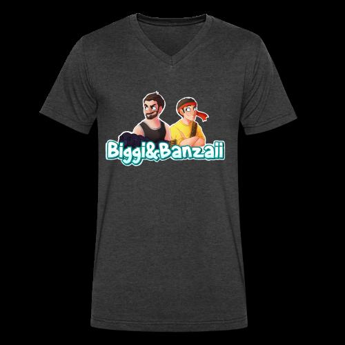 B&B Logo Tie Dye T-Shirt - Men's V-Neck T-Shirt by Canvas
