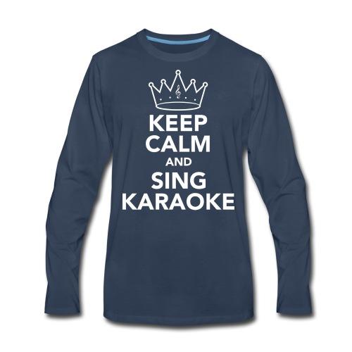 Keep Calm Mens Vest - Men's Premium Long Sleeve T-Shirt