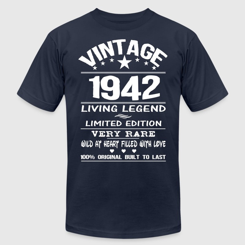 VINTAGE 1942 T-Shirts - Men's T-Shirt by American Apparel