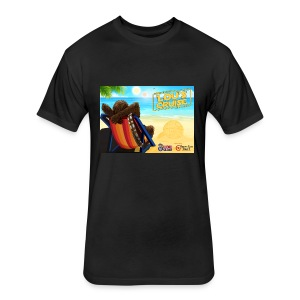 WDW Radio Cruise Loubacca Men's T-Shirt - Fitted Cotton/Poly T-Shirt by Next Level