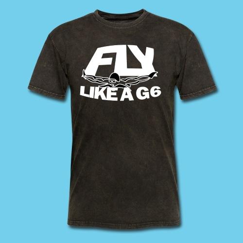 Fly like a G6- Men's Sweatshirt- Design Front- Rear mini logo - Men's T-Shirt