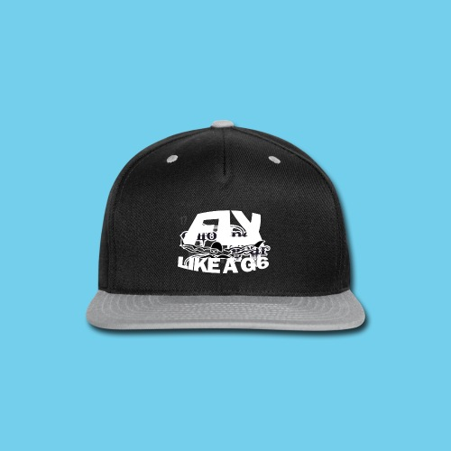 Fly like a G6- Men's Sweatshirt- Design Front- Rear mini logo - Snap-back Baseball Cap