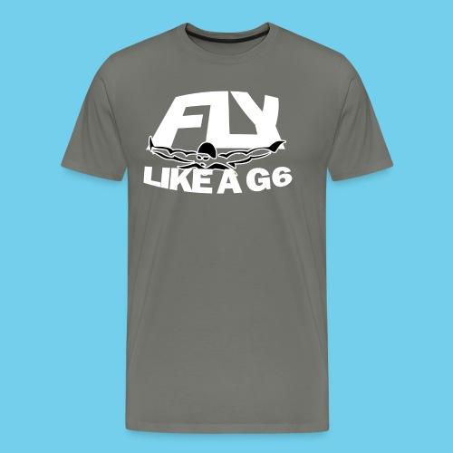Fly like a G6- Men's Sweatshirt- Design Front- Rear mini logo - Men's Premium T-Shirt