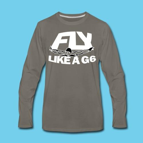 Fly like a G6- Men's Sweatshirt- Design Front- Rear mini logo - Men's Premium Long Sleeve T-Shirt