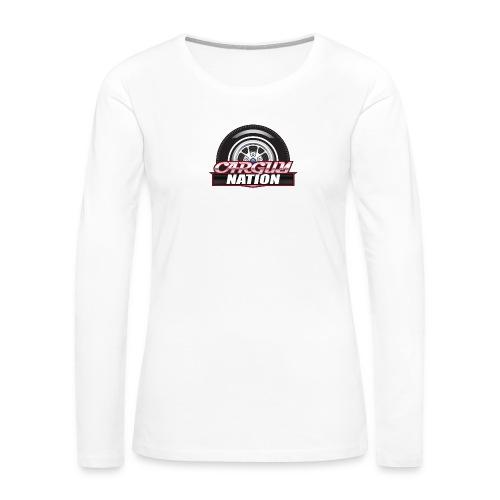 Womens V Neck CGN small - Women's Premium Long Sleeve T-Shirt