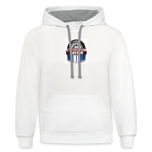 Womans V Neck CGN Badge - Contrast Hoodie