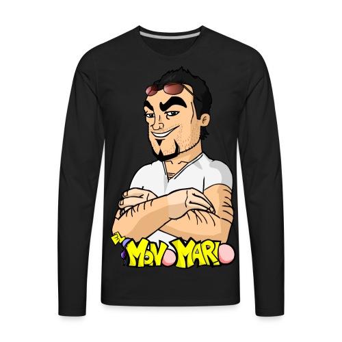 Escote en V - Men's Premium Long Sleeve T-Shirt