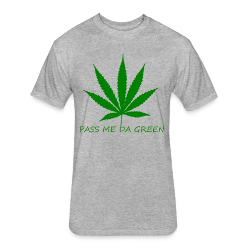 PASS ME DA GREEN CLASSIC T- SHIRT - Fitted Cotton/Poly T-Shirt by Next Level