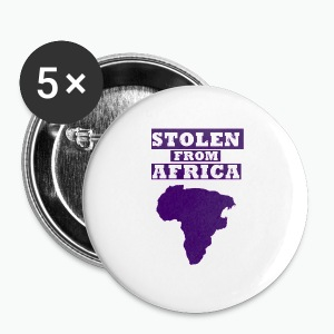 Stolen From Africa Standard Women's Tee (Purple Logo)  - Large Buttons