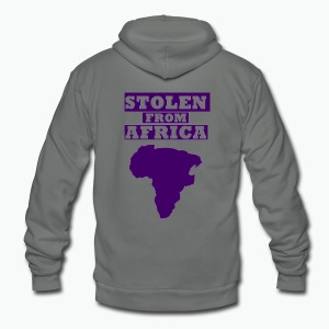 Stolen From Africa Standard Women's Tee (Purple Logo)  - Unisex Fleece Zip Hoodie by American Apparel