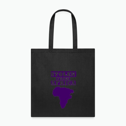 Stolen From Africa Standard Women's Tee (Purple Logo)  - Tote Bag