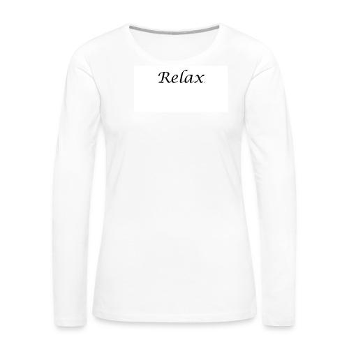 Relax Tee Women's T-Shirts - Women's Premium Long Sleeve T-Shirt