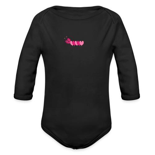 Heart Caterpillar - Organic Long Sleeve Baby Bodysuit
