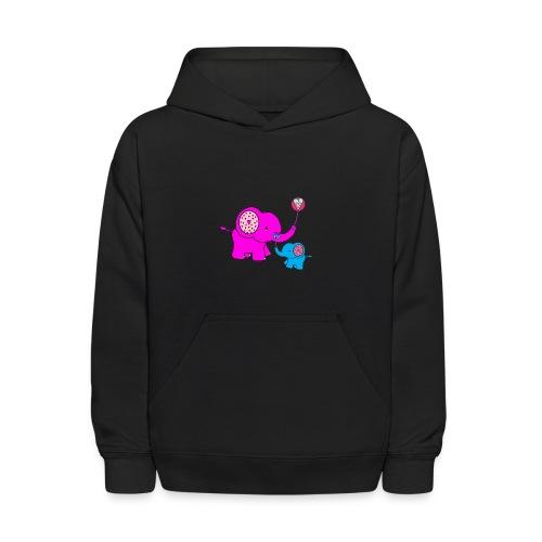 Valentine Elephant - Kids' Hoodie