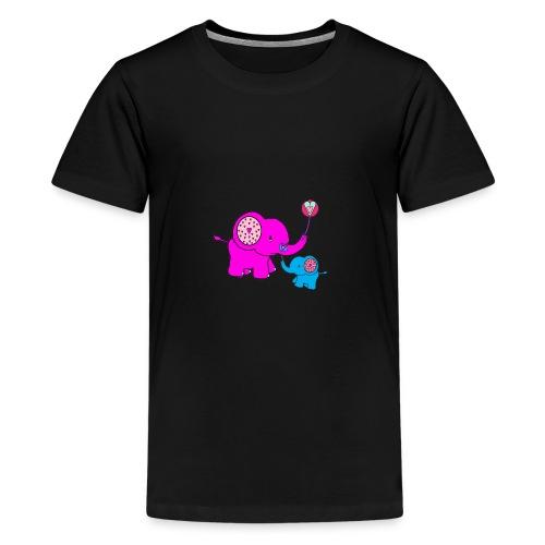 Valentine Elephant - Kids' Premium T-Shirt