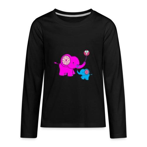 Valentine Elephant - Kids' Premium Long Sleeve T-Shirt