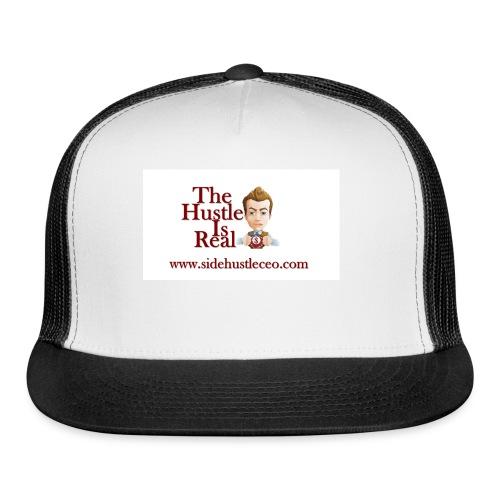 The Hustle Is Real w/ Logo - Trucker Cap
