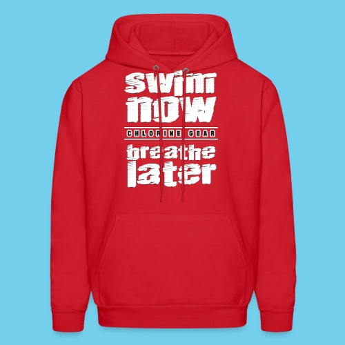 Swim Now Breathe Later One Side- Crewneck Sweatshirt - Men's Hoodie