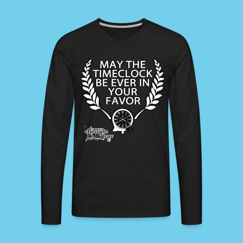 Hunger Swims- Men's LS Tee - Men's Premium Long Sleeve T-Shirt