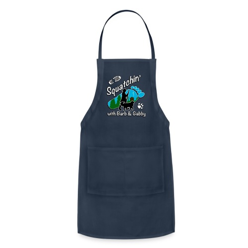 Men's Squatchin with Barb and Gabby Long Sleeve T-Shirt - Adjustable Apron