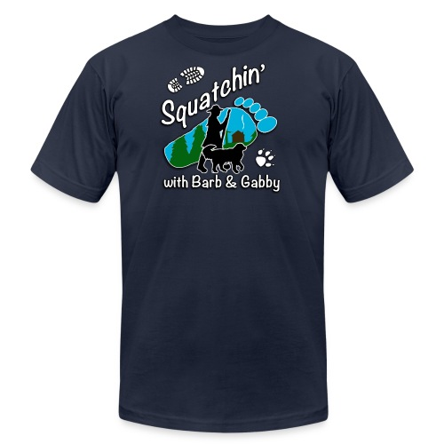 Men's Squatchin with Barb and Gabby Long Sleeve T-Shirt - Men's Fine Jersey T-Shirt