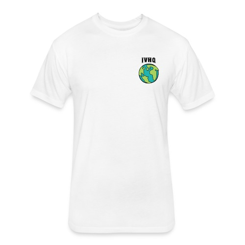 IVHQ White Mini Globe T - Men - Fitted Cotton/Poly T-Shirt by Next Level
