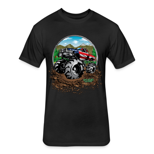 Mega Mud Truck USA - Fitted Cotton/Poly T-Shirt by Next Level
