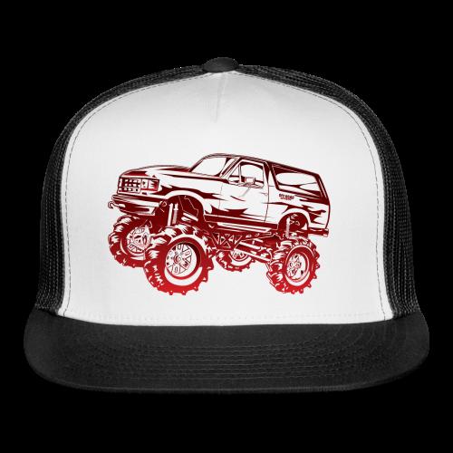 Red Mega Ford Bronco Shirt - Trucker Cap