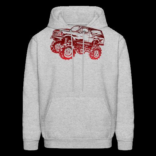 Red Mega Ford Bronco Shirt - Men's Hoodie