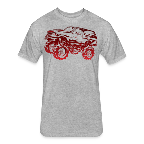 Red Mega Ford Bronco Shirt - Fitted Cotton/Poly T-Shirt by Next Level