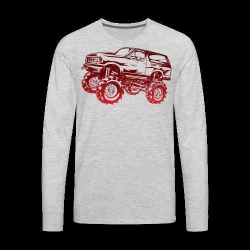 Red Mega Ford Bronco Shirt - Men's Premium Long Sleeve T-Shirt