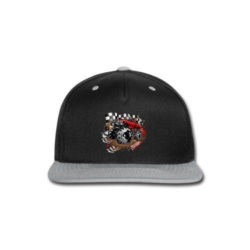 Red Race Mega Truck - Snap-back Baseball Cap