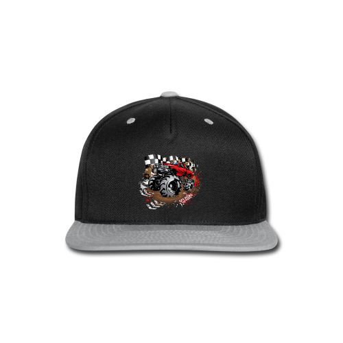 Red Race Mega Truck - Snap-back Baseball Cap