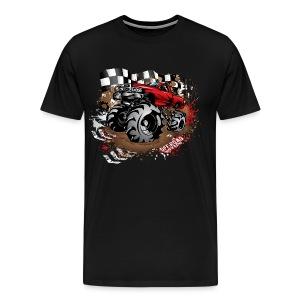 Red Race Mega Truck - Men's Premium T-Shirt