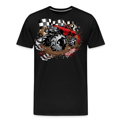 Red Race Mega Truck - Men's Premium T-Shirt