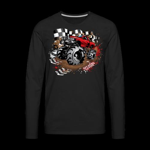 Red Race Mega Truck - Men's Premium Long Sleeve T-Shirt