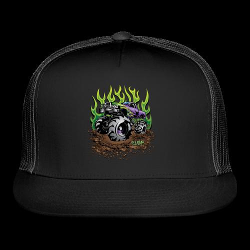 Green Flame Mud Truck - Trucker Cap