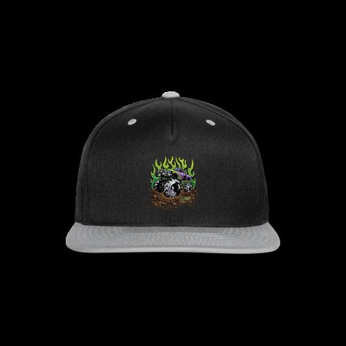 Green Flame Mud Truck - Snap-back Baseball Cap