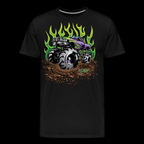 Green Flame Mud Truck - Men's Premium T-Shirt