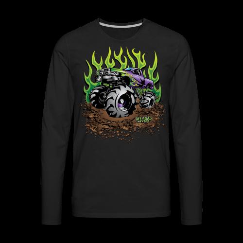 Green Flame Mud Truck - Men's Premium Long Sleeve T-Shirt