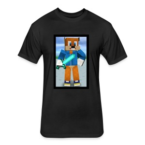 SQUIRRELxTASTIC Men T-Shirt - Fitted Cotton/Poly T-Shirt by Next Level