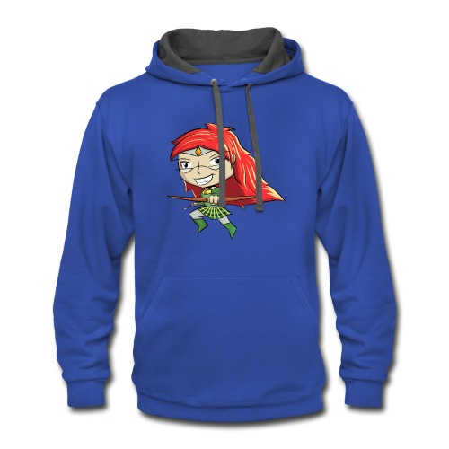 Bowgirl Women's T-Shirt - Contrast Hoodie