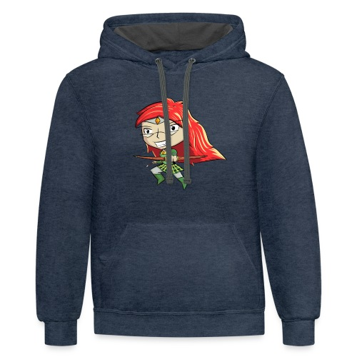 Bowgirl Women's T-Shirt - Contrast Hoodie