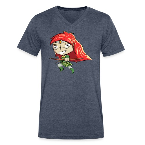 Bowgirl Women's T-Shirt - Men's V-Neck T-Shirt by Canvas
