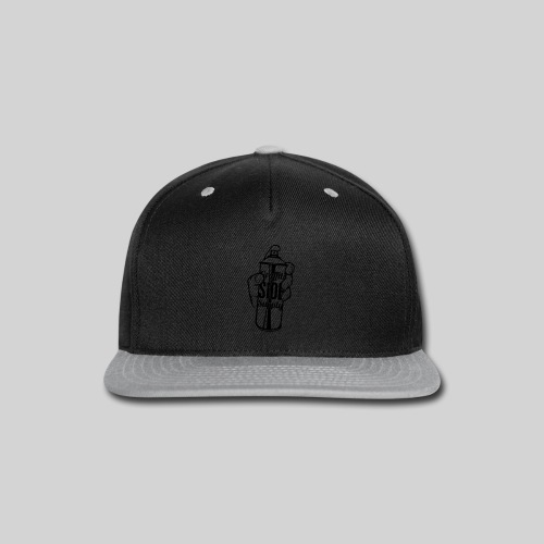 Men's Spray Can WHITE - Snap-back Baseball Cap