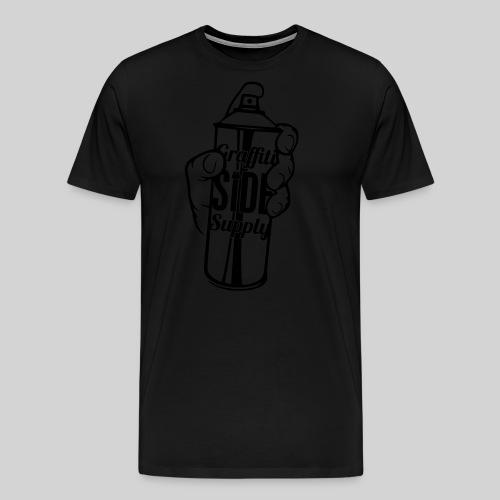 Men's Spray Can WHITE - Men's Premium T-Shirt