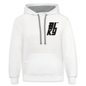 Blucky Chest Logo Womens [White] - Contrast Hoodie