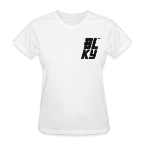 Blucky Chest Logo Womens [White] - Women's T-Shirt