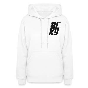 Blucky Chest Logo Womens [White] - Women's Hoodie